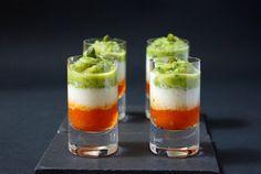 Verrines italiennes végétariennes, tricolores et légères. Idéales comme apéritif ou entrée.
