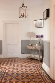 44 Edwardian Hallway to Beautify Your Home Interior Dado Rail Hallway, Grey Hallway, Tiled Hallway, Edwardian Staircase, Edwardian Hallway, Victorian Hallway Tiles, Interior Exterior, Home Interior, Edwardian Haus
