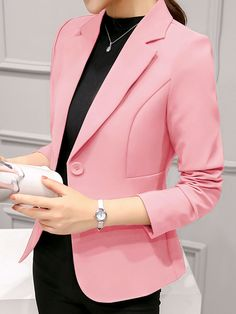 online shopping for Womens Elegant OL Business Suits Blazer Tops Jackets Outfit from top store. See new offer for Womens Elegant OL Business Suits Blazer Tops Jackets Outfit Blazer Outfits For Women, Blazers For Women, Suits For Women, Ladies Blazers, Women Blazer, Fit Women, Black Women, Cheap Blazers, Ladies Suits