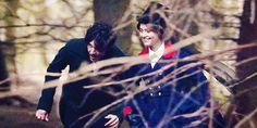 Victoria and Albert running in the forest. Victoria 2016, Victoria Itv, Victoria Series, Victoria Prince, Victoria And Albert, Queen Victoria, Victoria Jenna Coleman, Victoria Masterpiece, Rupert Friend