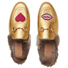 Just-landed on @ShopBAZAAR: heart-worthy @Gucci loafers. Metallic shoes go with all outfits; from denim to florals to classic black looks. #ShopBAZAAR #TuesdayShoesday