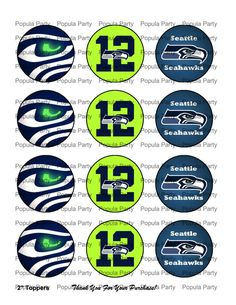 INSTANT DOWNLOAD DIY Digital Seattle Seahawks by PopulaParty, $5.00