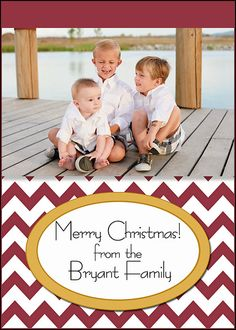 Mini Christmas Cards  Gift Tags  Cranberry and gold by MelindaBryantPhoto, $5.35 -   photo, personalized, family, holiday, chevron, print at home, printable