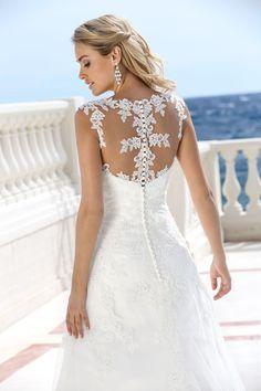 Style 416031- Beautiful lace back wedding dress