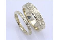 Handcrafted Fingerprint Wedding Rings, Love these I want them when I get married