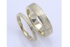 Handcrafted Fingerprint Wedding Rings
