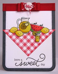 Lawn Fawn Happy Summer & Make Lemonade card. Cute Cards, Diy Cards, Pinterest Cards, Karten Diy, Lawn Fawn Stamps, Birthday Crafts, Birthday Recipes, Sweetest Day, Animal Cards