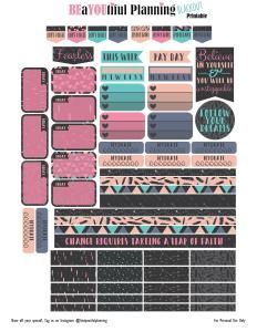 Free Blackout Planner Stickers