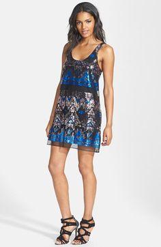 Tildon Geo Sequin Shift Dress available at #Nordstrom
