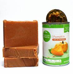 Cold Process Homemade Pumpkin Soap Recipe made using real organic pumpkin!