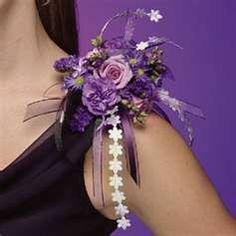 Prom Wrist Corsages - Purple Wrist Corsage