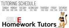 SIUE Homework Tutors @ Glen Carbon Library http://glencarbonlibrary.org/