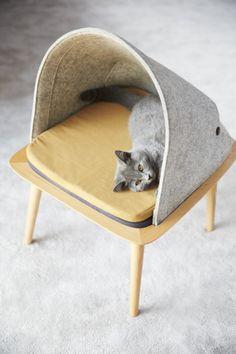 Los accesorios para gatos no tienen por qué estar reñidos con el diseño / @yorokobumag   #socialdesign