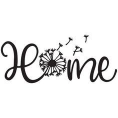 Silhouette Design Store: Home Dandelion Silhouette Design, Silhouette Cameo Projects, Cricut Vinyl, Cricut Stencils, Cricut Creations, Vinyl Projects, Vinyl Designs, Pyrography, Clipart