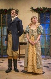 Ben Muller (left) as Mr. Knightly and Heather Christler (right) as Emma Photo by Michael Brosilow