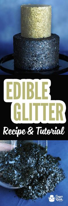 How to make super shiny, edible glitter at home with only two ingredients!