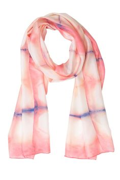 A one-of-a-kind hand dyed geometric pink silk scarf made in the traditional shibori tie dye method with a twist. An ideal Mothering Sunday or anniversary gift.