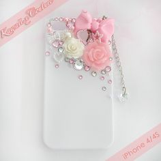 Hime Gyaru Pink iPhone 4/4S Decoden Case | $18.00    SHOP: Kawaii x Couture DecodenHandmade decoden phone cases, jewelry, & accessories ♡