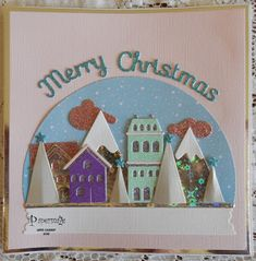 Hello - Lynn here with you today and my first Christmas project for this season. I couldn't resist this Snowglobe die set  when I visit...