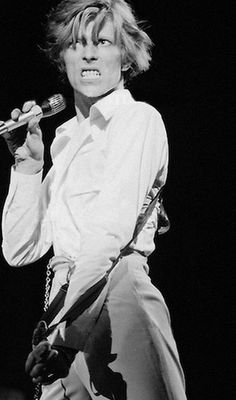David Bowie, the 'Thin White Duke'.
