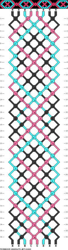 8 fils, 34 rangs, 3 couleurs