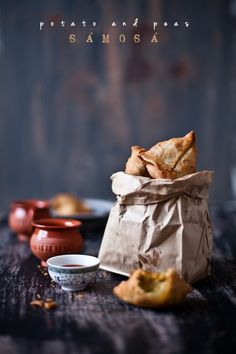 Potatoes and Peas Samosa via Playful Cooking #recipe