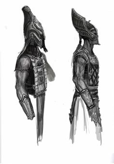 Stygian Guard Helmets concept art from the video game Age of Conan: Unchained
