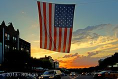 Old Glory - Mamaroneck NY at sunset