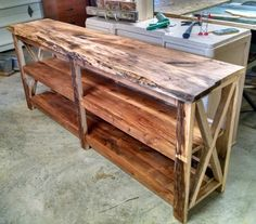 Newest project couch console table made from spalted maple