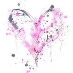 watercolour heart