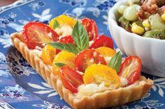 Tomato-Feta Tarts TEA PARTY TREATS  MANY RECIPES FOR TEA PARTYS