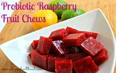 Probiotic Raspberry Fruit Chews