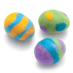 Felted Easter Eggs from April 2012 issue of FamilyFun magazine.