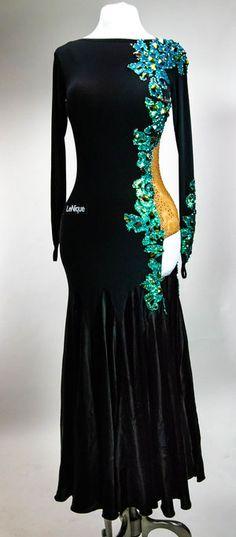 Latin Ballroom Dresses, Ballroom Dance Dresses, Latin Dresses, Long Sleeve Gown, Salsa, I Dress, Open Dress, Dance Outfits, Costume Design
