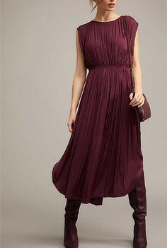 Pleated Midi Dress | New In