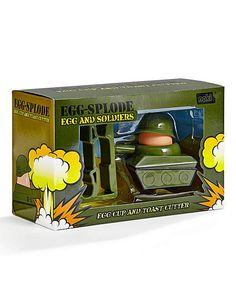 Tank Egg Cup And Toast Cutter by LITTLE ELLA JAME | An egggsplode gift for any military lover or soldier who wants to eat a nutritious breakfast! ;PPP | #eggcups #eggpots #eggslover #unusualstuff