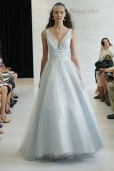 Light blue bridal gown  by Angel Sanchez. I LOVE. This. Draw..