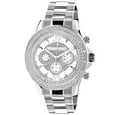 450e98791ff7 online shopping for Genuine Diamond Watches For Men  LUXURMAN Liberty Watch  Swiss Quartz w Stainless Steel Band from top store. See new offer for  Genuine ...