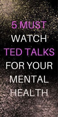 I have been obsessing over TED talks lately. Streaming them on TV while I clean the house is my new favorite way to multitask. Here are some great ones related to mental health that I recommend. I hope you like them! This TED talk discusses embracing yo