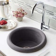 Native Trails Pozo x Stone Bar & Prep Kitchen Sink Finish: Slate Drop In Kitchen Sink, Kitchen Sink Design, Kitchen Vanity, Prep Kitchen, Kitchen And Bath, Kitchen Sinks, Kitchen Remodel, Stone Kitchen, Rustic Kitchen