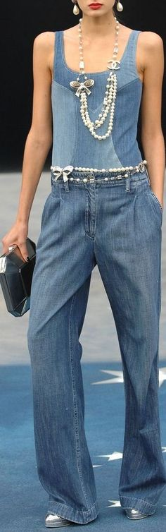 ***Chanel : Denim with Pearls***