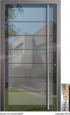 haustüren aluminium | Aluminium Haustür Ganzglasfüllung Alu Haustüren flügelüberdeckend ... Aluminium Door Design, Aluminium Glass Door, Aluminium Front Door, Glass Front Door, Front Doors, Main Door Design, Entrance Design, Front Door Design, Window Design