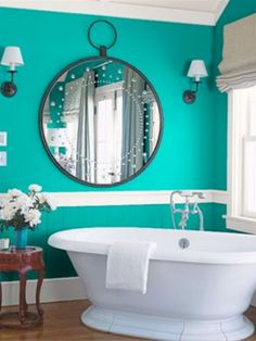 I love the colour! Bathroom Paint Ideas for Small Bathroom