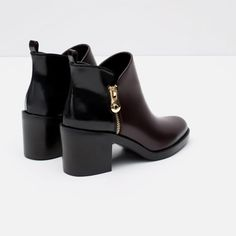 Image 3 of COMBINED ANKLE BOOTS from Zara