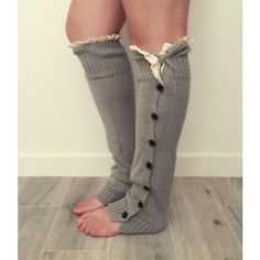 Leg Warmers Button Leg Warmers Knit Leg Warmers Lace Boot Leg Warmers... (£11) ❤ liked on Polyvore featuring intimates, hosiery, black, leg warmers, women's clothing, button leg warmers, thick leg warmers, knit leg warmers, long leg warmers and boot cuff leg warmers