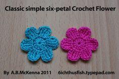Classic simple six petal flower