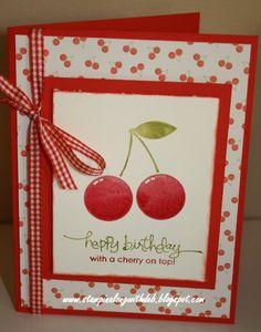 cherries---love the gingham Ribbon!