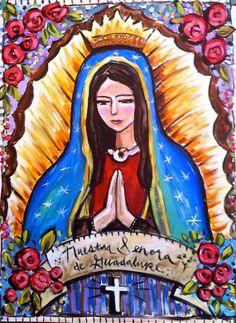 Virgin de Guadalupe Print by recycledwoodart on Etsy, $16.00