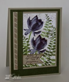 butterfly basic & Lotus Blossom in Wisteria sympathy card by Lynn Weiss..... love this!