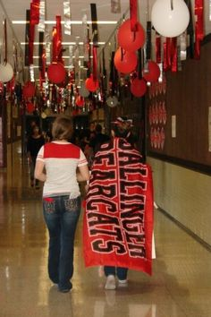 That's school spirit. (WB - can we hang things from the ceiling in the Commons area?)